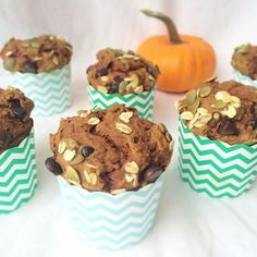 """Pumpkin Chocolate Chip Muffins  We love these fluffy muffins and hope you will to! Recipe up on the website in the """"breakfasts"""" section! (Link in profile)  www.mindful-morsels.com  @mindfulmorsels #mindfulmorsels  #wfpb #plantbased #vegan #vegetarian #glutenfree #glutenfreevegan #veganfoodlovers #veganfoodshare #veganfoodspot #vegansofig #dairyfree #eggfree #gastropost #gastropostvan #pumpkinchocolatechip #pumpkin #breakfast #muffins #glutenfreemuffin"""