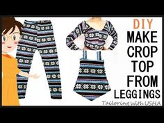 Make Crop Top From Leggings | Easy Making | DIY - Tailoring With Usha - YouTube