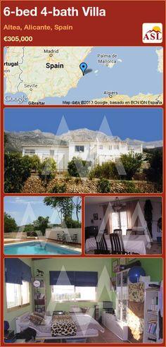 6-bed 4-bath Villa in Altea, Alicante, Spain ►€305,000 #PropertyForSaleInSpain