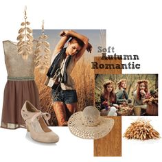 Soft Autumn Romantic by spicemarket on Polyvore featuring Collection Good for the Sole, Zenggi, Swarovski, People Tree, GE, casual, soft autumn and romantic