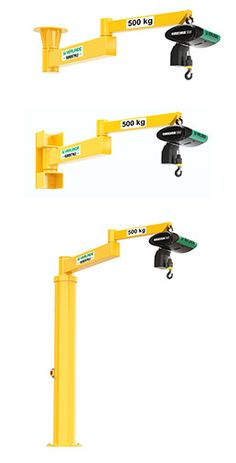 "VERLINDE - EUROSTYLE - ""Templier"" type manual jib cranes"