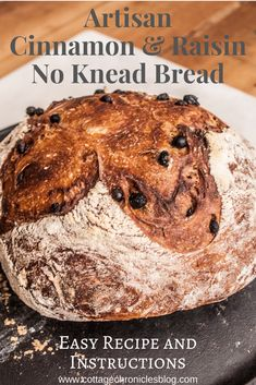 Easy Bread recipe that anyone can make, no baking experience required! Just a few ingredients and 5 minutes of prep time, and you're on your way to crusty, rustic, amazing bread! No Bake Desserts, Easy Desserts, Recipe Cover, No Knead Bread, Easy Bread Recipes, Recipe Instructions, Few Ingredients, Artisan Bread, How To Make Bread