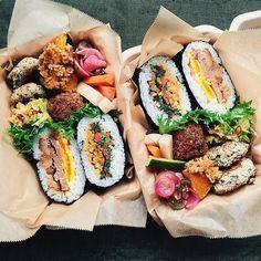 饭团 Smoker Cooking meat smoker near me Cucumber Recipes, Bento Recipes, Healthy Recipes, Onigirazu, Food Goals, Aesthetic Food, Japanese Food, Japanese Lunch Box, Asian Recipes