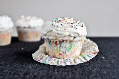 Homemade Funfetti Cupcakes and Vanilla Buttercream - How Sweet It Is..