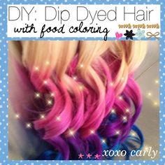 New hair diy dye dip dyed 58 Ideas Diy Hair Dye, Dip Dye Hair, Dip Dyed, Dye My Hair, New Hair, Purple Hair Tips, Hot Pink Hair, Colored Hair Tips, Temporary Pink Hair Dye