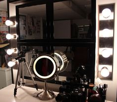 My Makeup Vanity Set-Up With DIY Lighted Mirror |The Shades Of U ...