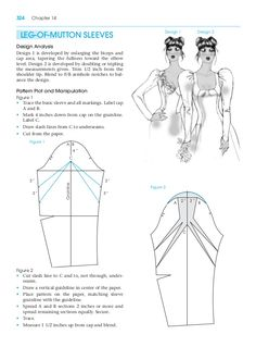 Leg-of-mutton sleeves. Pattern making for fashion design. Learn to make your own clothes at https://payhip.com/patternmaking , the professional German pattern cutting system.