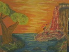 """THE FIRST PAINTING AFTER A LONG STRETCH OF """"GIVING ART A BREAK"""": PLEASANTLY SURPRISED THAT I PAINTED THE WHOLE THING WITH VERY MINIMAL PROBLEMS..."""
