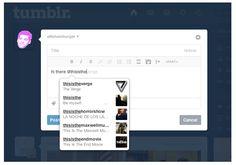#Tumblr ahora permite las menciones de usuarios