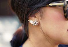 fashion, accessori, earcuffs, crystal earrings, stud, ears, ear cuffs, swarovski crystals, diy earrings