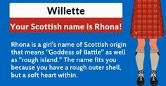 What is your Scottish name?