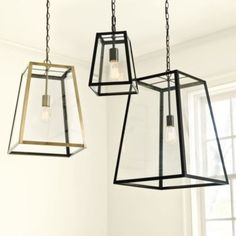 Eldridge Pendant. TIP: use a CFL bulb - the Plumen bulb - it is very sculptural and looks great while using less energy.