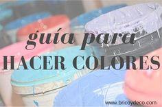 A partir de pintura blanca y tintes y colorantes puedes ir creando diferentes tonos. ¡Atento!