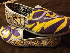 Custom LSU Gameday Shoes (TOMS). $135.00, via Etsy.