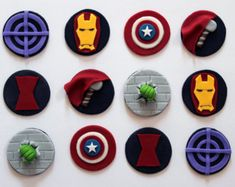 Marvel Avengers Cupcake Toppers - Pack of 12