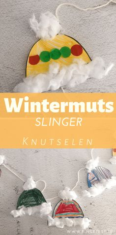 Wintermuts slinger knutselen met kinderen in thema winter Winter Activities For Kids, Winter Crafts For Kids, Winter Kids, Christmas Crafts For Kids, Simple Christmas, Snow Theme, Winter Theme, Bubble Wrap Art, Classroom Art Projects