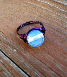 Crystal Ball Moonstone Ring Mystical Large by PazHappyCreations