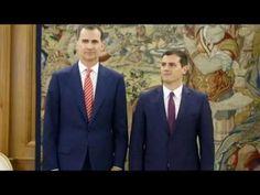 """LA NUEVA LEGISLATURA  Rivera propone al rey un Gobierno """"de consenso, fu..."""