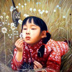 Oil Painting - Dandelion