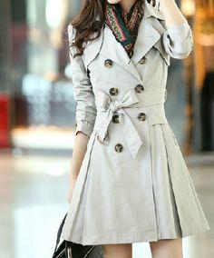 Light Grey Trench Coat