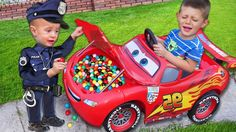 Baby Police Colors Gumball Candy in Lightning Mcqueen Car Johny Johny Yes Papa - YouTube