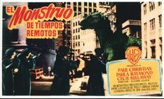 The police arrive to deal with the dinosaur loose in New York.  THE BEAST FROM 20,000 FATHOMS (1953)
