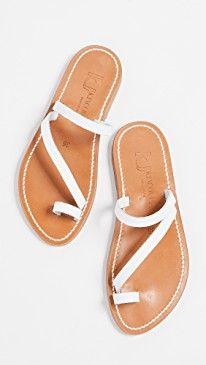 b83289f03 K. Jacques Actium Toe Ring Sandals