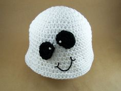 Crocheted Baby Ghost Hat $20 plus shipping