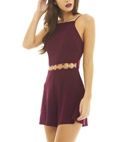 Look what I found on #zulily! Purple Embellished Cutout Romper #zulilyfinds