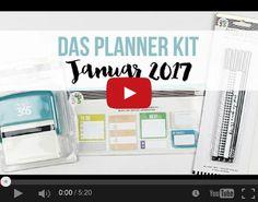 Video zum Planner Kit Januar 2017 von www.danipeuss.de #MeandmyBigIdeas #danipeuss #dpJanuarkit17