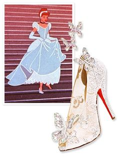 Magic is in the air at the #ChristianLouboutin headquarters! The designer released the first photo of his Cinderella-inspired slipper today. http://news.instyle.com/2012/07/05/christian-louboutin-cinderella-shoes/