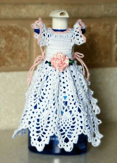 Crochet Dishsoap Apron Pattern - Pineapple Crinoline Dishsoap Apron Pattern       ♪ ♪ ... #inspiration_crochet #diy GB