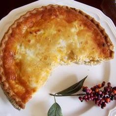 Cheesy Chicken Quiche @ allrecipes.com.au