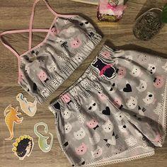 Любителям котов посвящается🐈😍❤️пижамка из натурального 100% хлопка 450 грн,в наличии много других расцветок#shov_clothes#pyjama#lovecats#sleepwear#sweetdreams #kharkiv Cute Bras, Cute Lingerie, Babydoll Lingerie, Cute Sleepwear, Lingerie Sleepwear, Cute Comfy Outfits, Cute Girl Outfits, Blush Prom Dress, Pajama Outfits