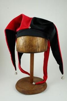 00bf75c3db9 Tall Toad Original Hats · Jester Black Red Renaissance Hat