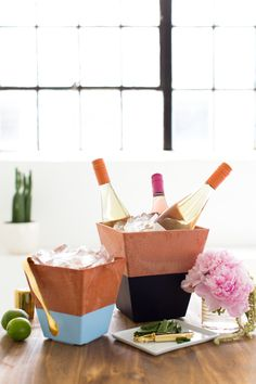 DIY Dipped Terracotta Wine Chiller - Cupcakes & Cashmere