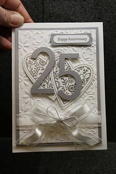 Very nice silver Anniversary card.... I will probably use it in different couloirs for any # anniversary