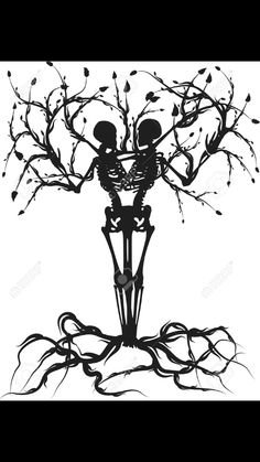 The Tree Of Life By Mrpale On Deviantart Skeleton Tree Flash