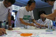 Art activity. team building http://teambuildingsingapore.com.sg/