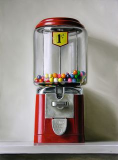 I love the acorn detail on the dispenser.  I really would love a vintage gumball machine.