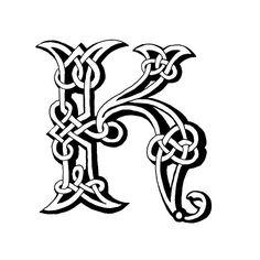 Celtic Lettre K - Illustration vectorielle
