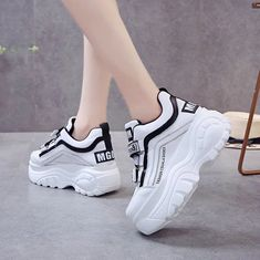 Thick bottom chunky sneakers women patchwork high platform shoes – kidenhome Source by newagainstyle shoes wedges Sneakers Mode, Sneakers Fashion, Fashion Shoes, Shoes Sneakers, High Platform Shoes, High Heels, Flat Shoes, Oxford Shoes, Aesthetic Shoes