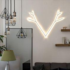 Einzigartige Beleuchtung als Eye Catcher im Büro! Zeige dein Corporate Design. Corporate Design, Ceiling Lights, Lighting, Home Decor, Unique Lighting, Creative, Decoration Home, Room Decor, Lights