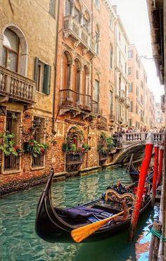 Preciosos colores en Venecia