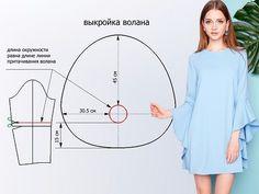 Si te preguntas como cortar estas mangas aquí tienes el patrón  #patron #moldes #moldespararopa #aprendeacoser #costura