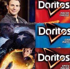 Hahaha love the dorito joke Roberts dorky son coined