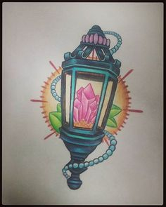 #lantern with #crystals #drawing from today  #boredom #shareforshare #followers #f4f #follow4followback #follow4follow #ohiotattoo #ohiotattooartists #color #colortattoo #flash #tattooflash #tattooideas #lanterndrawing #lanterntattoo #ohio #crsytaldrawing #crystaltattoo #tattoo #hashtag #share4share #poop