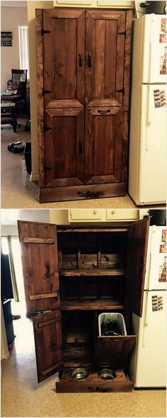 Wood Pallet Wardrobe with Cabinets..i love this.. Need it.