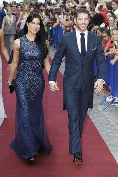 Pilar Rubio y Sergio Ramos en la boda de Alejandro Talavante