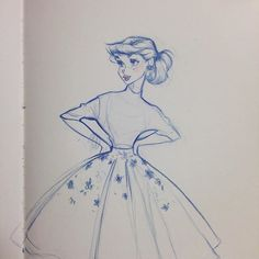 Vintage fashion #sketch #vintage #fashion #girl #dress #1950s #dapper #classic #timelessbeauty
